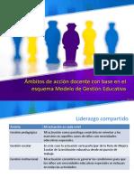 Ámbitos de Acción Docente Con Base en El Esquema Modelo de Gestión Educativa