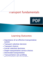 Transport Fundamentals