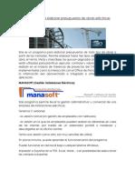 Software Para Elaborar Presupuestos de Obras Eléctricas