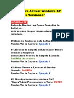 Intrucciones de Activacion XP