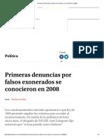 Primeras Denuncias Por Falsos Exonerados Se Conocieron en 2008