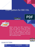 Exam Pattern for SSC CGL