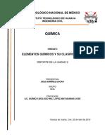 Reporte Unidad 2 Quimica