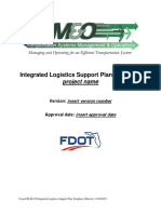 Integrated Logistics Support Plan Template