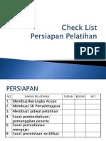 Check List persiapan pelatihan.ppt