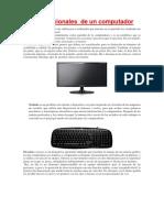 Partes Funcionales de Un Computador