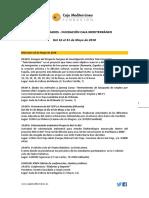 Agenda de Actividades Destacadas. Del 16 al 31 de mayo de 2018. Fundación Caja Mediterráneo