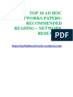 TOP 10 AD HOC NETWORKS PAPERS