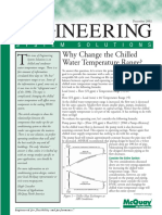 Why Change the Chilled Water Temperature Range