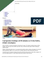 3 Programa Treninga Od 60 Minuta Za Čvrsta Bedra, Trbuh i Stražnjicu _ Fitness.com.Hr