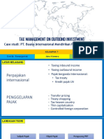Tax Management on Outbond Investment
