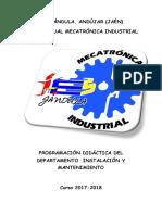 Programación Didáctica Del Departamento Instalación y Mantenimiento