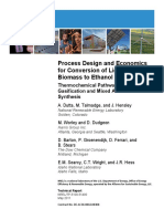 Process Design and Economics for Conversion of Lignocellulosic Biomass to Ethanol_ Thermochemical Pathway by Indirect Gasification and Mixed Alcohol Synthesis