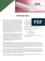 Silt Density Index
