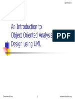 Object Oriented Analysis and Design (1)