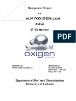 Project of E-commerce on Www.myoxygen