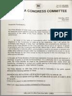 Manmohan's Letter to President Kovind