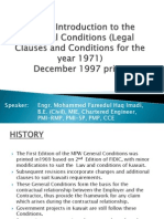 A Brief Introduction to the Kuwait MPW General Conditions of Contract and Claims Issues