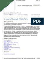 #C32 - Diesel Gen-Set - OMM - SPBU8088 - Intervalos de Manutencao