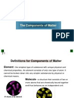Lecture 2 Components of Matter
