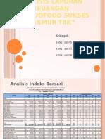 Analisis Indeks Berseri Dan Common Size