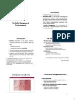 1) Lecture 1 Portfolio Management Environment