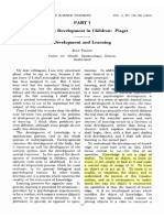 Piaget,Jean - Cognitive Development in Children