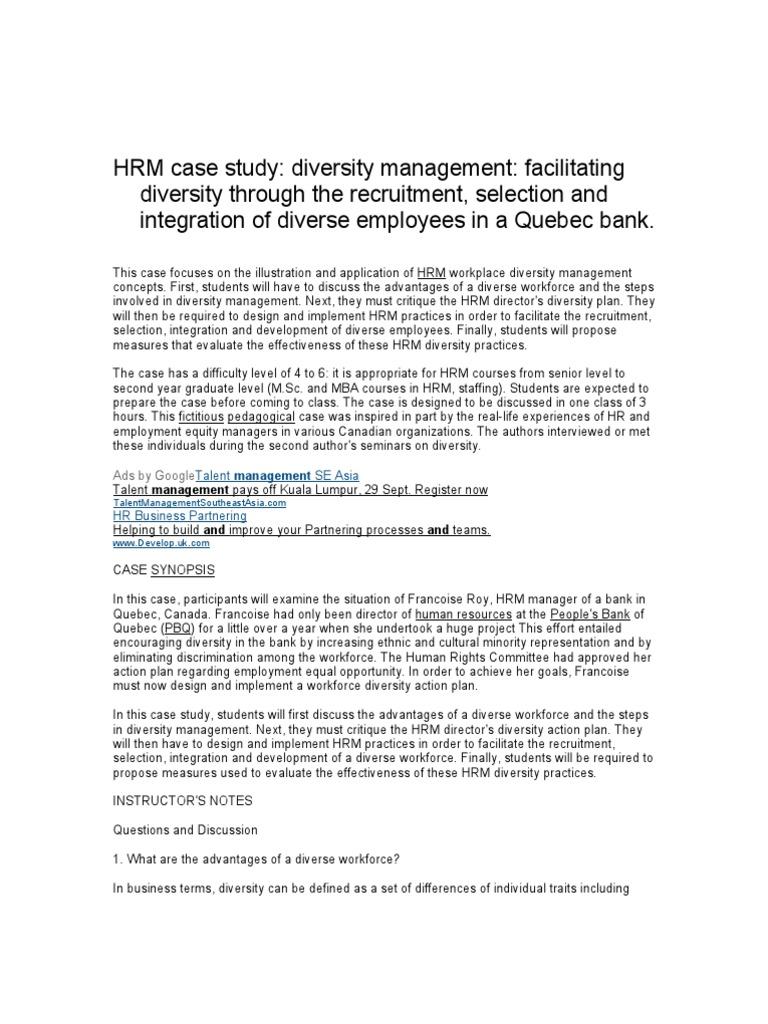 case study on hrm topics pdf