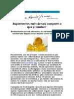 Suplementos nutricionais cumprem o que prometem - medicina ortomolecular - Wilson Rondó Jr