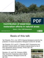 Contribution of weed biocontrol to restoration efforts in natural areas