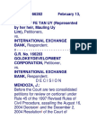 204. Heirs of Uy v International Exchange Bank