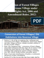 conversion of forest villages into revenue village