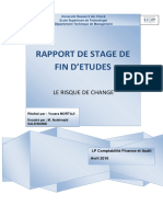 Rapport de stage Risque de change