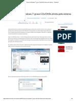 Dicas Do Windows 7_ Grave CDs_DVDs Direto Pelo Sistema - TecMundo