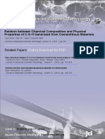 Relation Between Chemical Composition and Physical Properties of C-S-H Generated From Cemetinous Materials