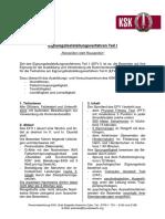 KSK Broschüre Eignungstest Teil 1