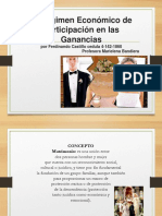 Del Regimen Economico Matrimonial (Capitulaciones Matrimoniales)