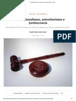 Constitucionalismo, Autoritarismo e Juristocracia _ JOTA