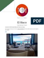 Restaurante El Risco in Famara