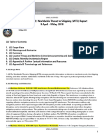 U. S. Navy Office of Naval Intelligence Worldwide Threat to Shipping (WTS) Report 9 April - 9 May 2018