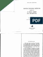 Barthes - O grau zero da escritura (Introd e 2a parte).pdf
