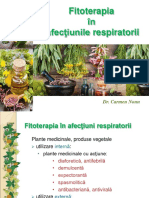 Fitoterapia Afectiunilor Respiratorii. 2015