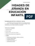 Actividades de Enseñanza en Educación Infantil