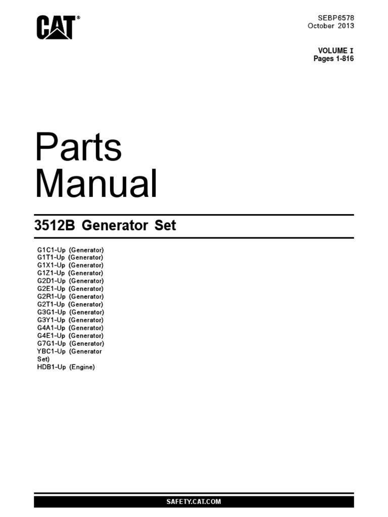 cat 3512b parts manual vol i rh scribd com Cat 3512B 1500 Ekw Emergency Generator Cat 3520