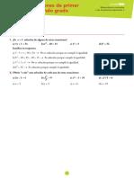 Tema 7- Ecuacines de Primer y Segundo Grado