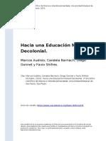 Marcos Audisio; Candela Barriach; Die (..) (2015). Hacia Una Educacion Musical Decolonial