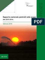 Rapporto nazionale pesticidi nelle acque dati 2015/2016