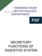 Secretory Functions of Digestive System