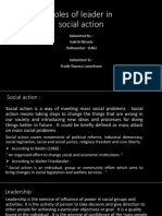 Roles of Leader in Social Action