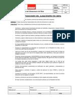 Manual de Funciones Del Almacenero de Obra